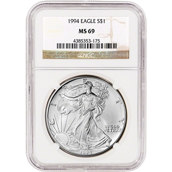 1994 American Silver Eagle - NGC MS69
