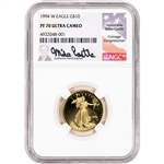 1994 W American Gold Eagle Proof 1/4 oz $10 - NGC PF70 UCAM Castle Signed