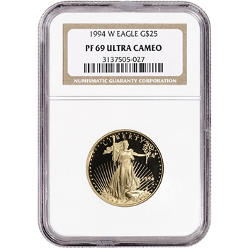 1994-W American Gold Eagle Proof (1/2 oz) $25 - NGC PF69 UCAM