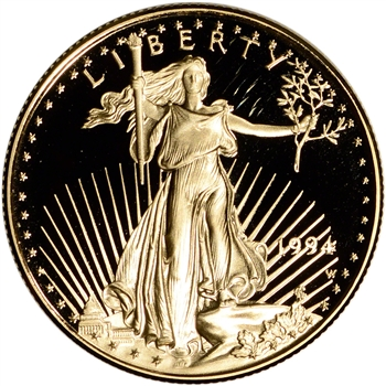 1994-W American Gold Eagle Proof 1/2 oz $25 - Coin in Capsule