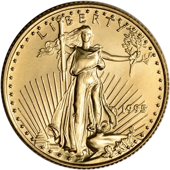 1995 American Gold Eagle 1/4 oz $10 - BU