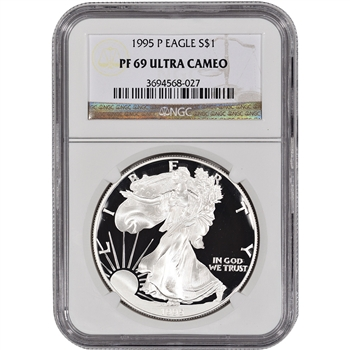 1995-P American Silver Eagle Proof - NGC PF69UCAM