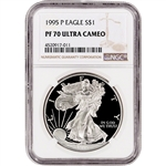1995-P American Silver Eagle Proof - NGC PF70 UCAM