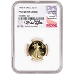 1995 W American Gold Eagle Proof 1/4 oz $10 - NGC PF70 UCAM Castle Signed