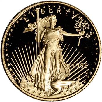 1995-W American Gold Eagle Proof 1/4 oz $10 - Coin in Capsule
