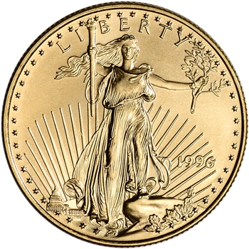 1996 American Gold Eagle 1/2 oz $25 - BU
