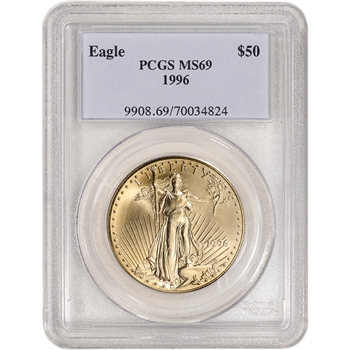 1996 American Gold Eagle 1 oz $50 - PCGS MS69