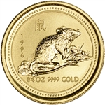 1996 Australia Gold Lunar Series I Year of the Mouse 1/4 oz $25 - BU