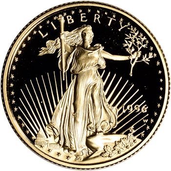 1996-W American Gold Eagle Proof 1/4 oz $10 - Coin in Capsule