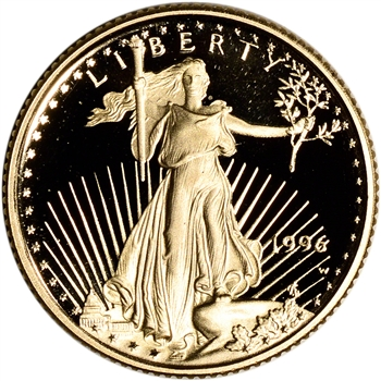 1996-W American Gold Eagle Proof 1/10 oz $5 - Coin in Capsule