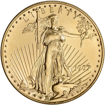 1997 American Gold Eagle 1/2 oz $25 - BU