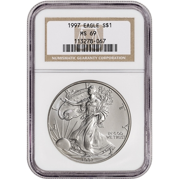 1997 American Silver Eagle - NGC MS69