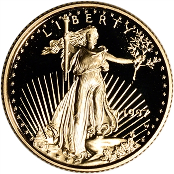 1997-W American Gold Eagle Proof 1/10 oz $5 - Coin in Capsule