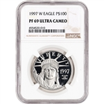 1997-W American Platinum Eagle Proof 1 oz $100 - NGC PF69 UCAM