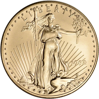 1998 American Gold Eagle 1 oz $50 - BU