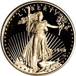 1998-W American Gold Eagle Proof 1/2 oz $25 - Coin in Capsule