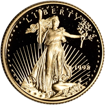 1998-W American Gold Eagle Proof 1/10 oz $5 - Coin in Capsule