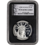 1998-W American Platinum Eagle Proof (1 oz) $100 - NGC PF70 UCAM - ALS Black