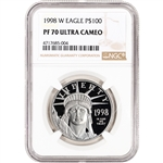1998-W American Platinum Eagle Proof 1 oz $100 - NGC PF70 UCAM