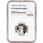 1998 W American Platinum Eagle Proof 1/4 oz $25 - NGC PF70 UCAM