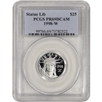 1998-W American Platinum Eagle Proof 1/4 oz $25 - PCGS PR69 DCAM