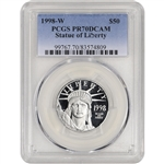 1998-W American Platinum Eagle Proof (1/2 oz) $50 - PCGS PR70 DCAM