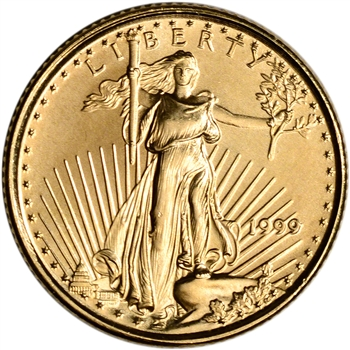 1999 American Gold Eagle 1/10 oz $5 - BU