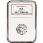 1999 American Platinum Eagle 1/4 oz $25 - NGC MS69
