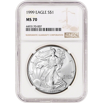 1999 American Silver Eagle - NGC MS70