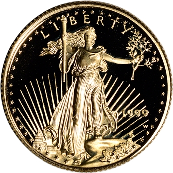 1999-W American Gold Eagle Proof 1/4 oz $10 - Coin in Capsule