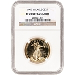 1999-W American Gold Eagle Proof 1/2 oz $25 - NGC PF70 UCAM
