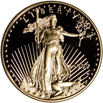 1999-W American Gold Eagle Proof 1/2 oz $25 - Coin in Capsule
