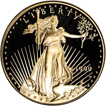 1999-W American Gold Eagle Proof 1 oz $50 - Coin in Capsule