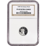 1999-W American Platinum Eagle Proof (1/10 oz) $10 - NGC PF69 UCAM