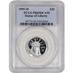 1999-W American Platinum Eagle Proof 1/4 oz $25 - PCGS PR69 DCAM