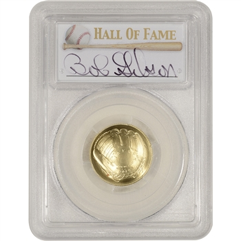 2014-W US Gold $5 Baseball BU - PCGS MS70 - HOF Label - Bob Gibson