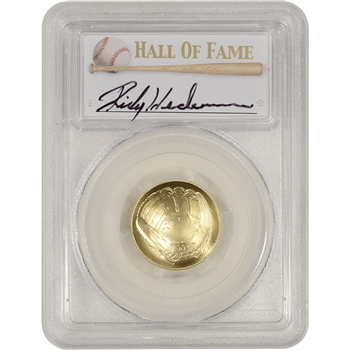 2014-W US Gold $5 Baseball BU - PCGS MS70 - HOF Label - Rickey Henderson