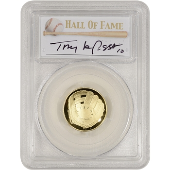 2014-W US Gold $5 Baseball Proof - PCGS PR70 - HOF Label - Tony La Russa