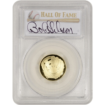 2014-W US Gold $5 Baseball Proof - PCGS PR70 - HOF Label - Bob Gibson