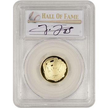 2014-W US Gold $5 Baseball Proof - PCGS PR70 - HOF Label - Frank Thomas
