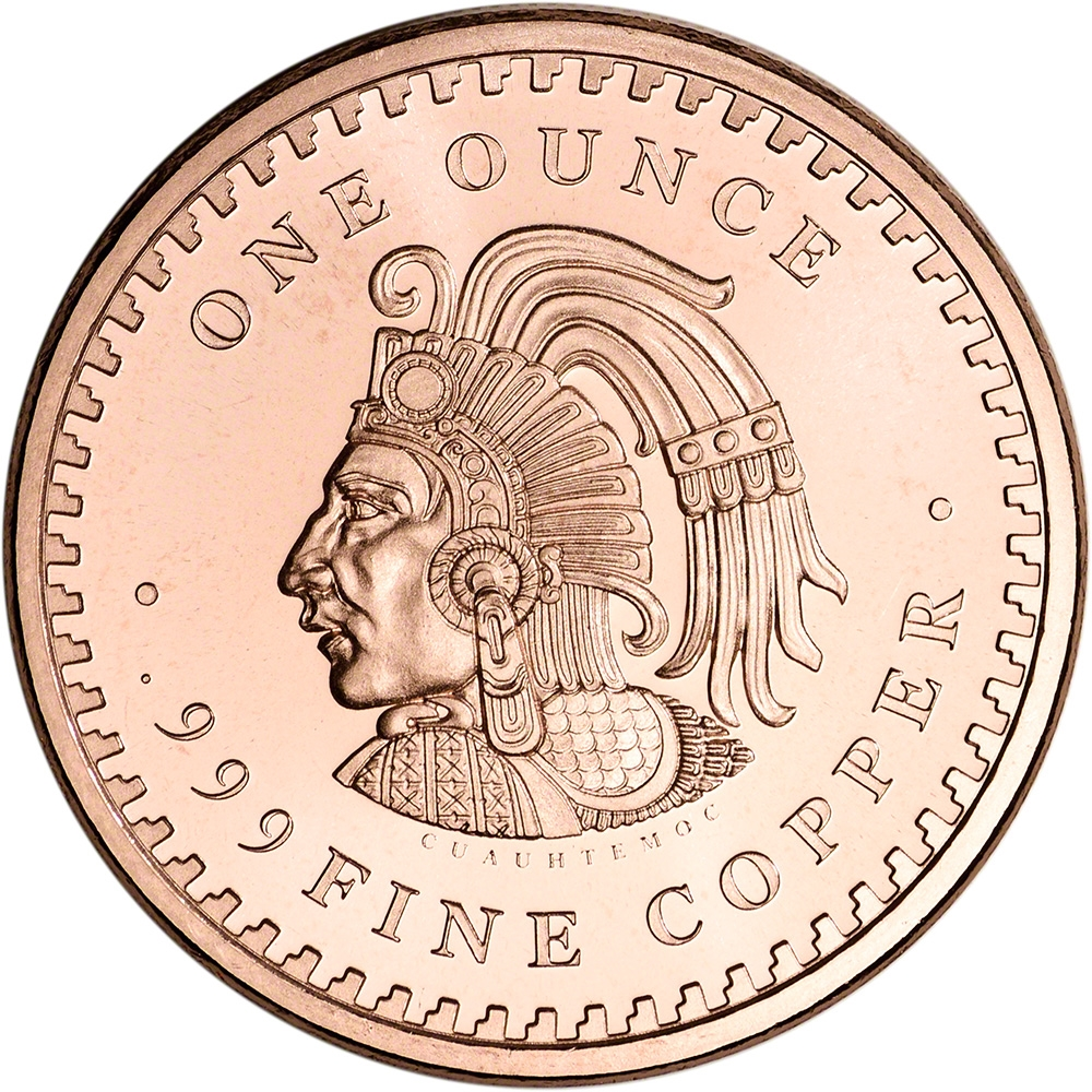 Aztec Calendar 1 oz Copper Round