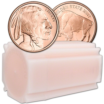 1 oz. Golden State Mint Copper Round Buffalo .999 Fine Tube of 20