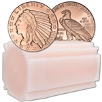 1 oz. Golden State Mint Copper Round Incuse Indian .999 Fine Tube of 20