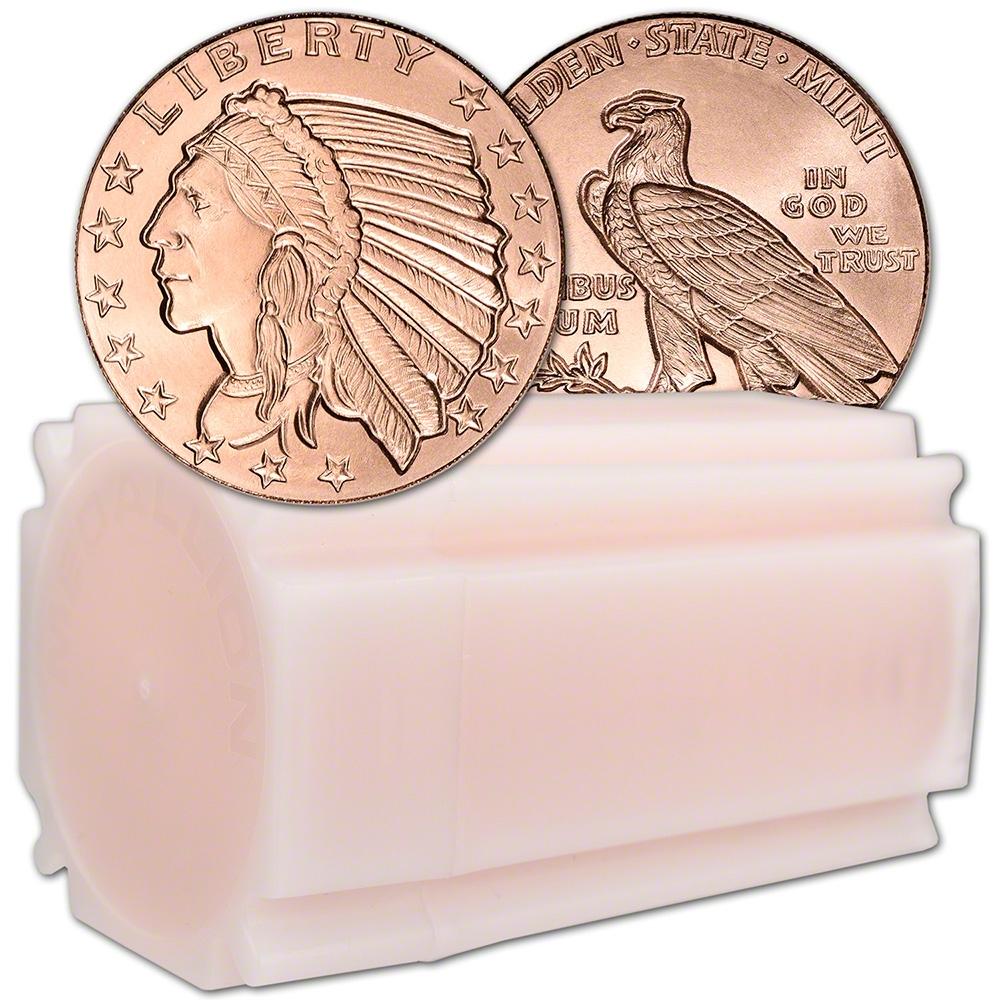 NO DATE • 1 oz each .999 Fine Copper 20 New Coins • Incuse Indian Design