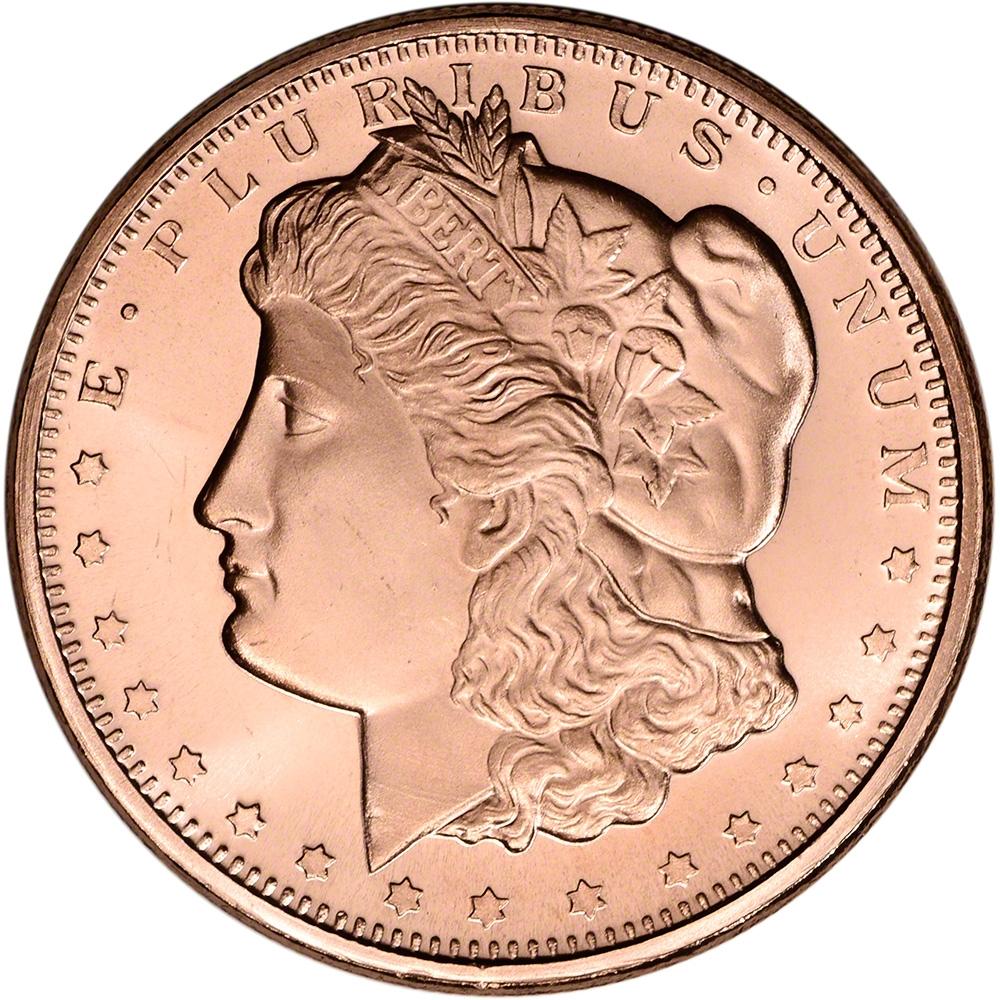 Lot of 4-1 oz Morgan Copper Bullion Round .999 Fine