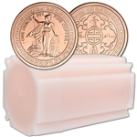 1 oz. Golden State Mint Copper Round Trade Dollar .999 Fine Tube of 20