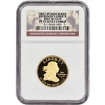 2007-W US First Spouse Gold (1/2 oz) Proof $10 Thomas Jefferson - NGC PF70 UCAM