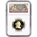 2007-W US First Spouse Gold 1/2 oz Proof $10 - Thomas Jefferson's Liberty NGC PF70