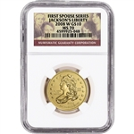 2008-W US First Spouse Gold 1/2 oz BU $10 - Andrew Jackson's Liberty NGC MS70