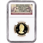 2008-W US First Spouse Gold 1/2 oz Proof $10 - Elizabeth Monroe NGC PF70